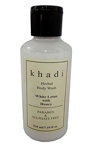 Khadi White Lotus & Honey (Paraben & sulphate Free) Body wash 210ml