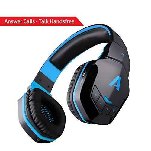 Boat Rockerz 510 Extra Bass Over the Ear Bluetooth Headphones, Blue & Black
