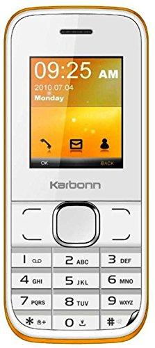 Karbonn K45+ (White & Orange Mobile Mobile