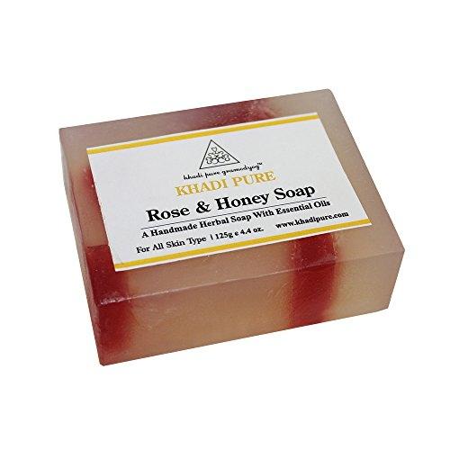 Khadi Pure Rose & Honey Soap, 125 GM