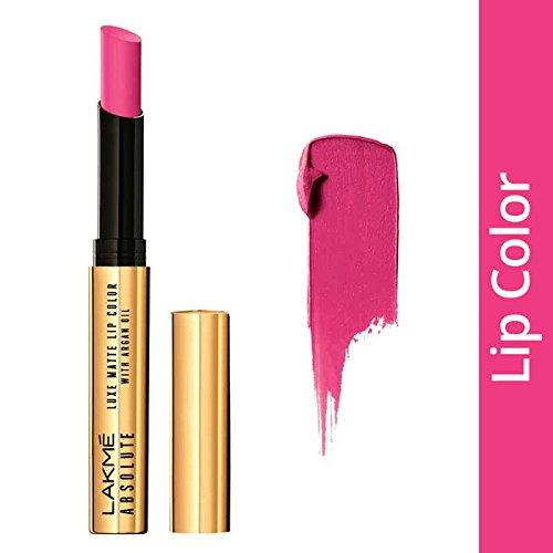 Lakme Absolute Luxe Matte With Argan Oil Lipstick, Grand Fuchsia 2 GM