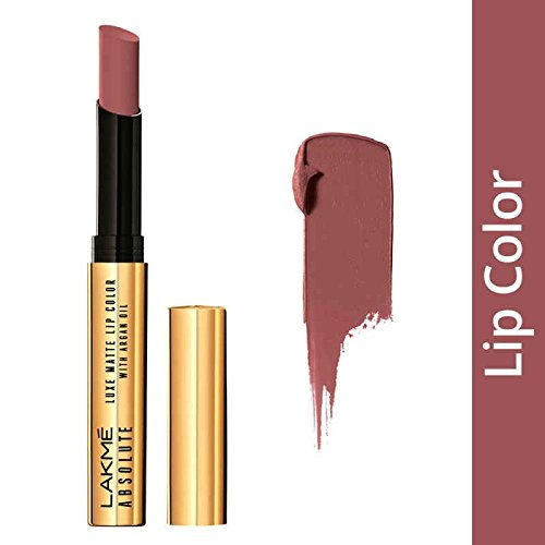 Lakme Absolute Luxe Matte with Argan Oil Lipstick, Rich Cocoa 2 GM