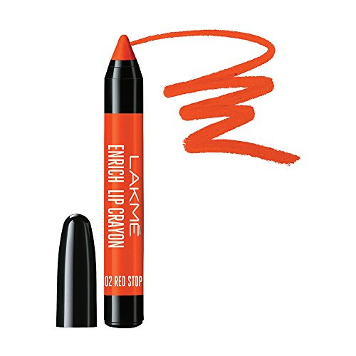 Lakme Enrich Lip Crayon, Red Stop 2.2 GM