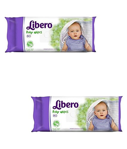 Libero Baby Wipes 80 Pieces (Pack of 2)