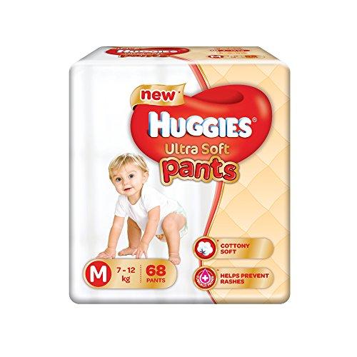 Huggies Ultra Soft Pants Premium M Diapers (68 Pieces)
