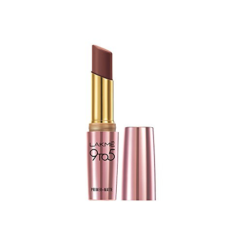 Lakme 9 to 5 Primer & Matte Lipstick, Sangria Weekend 3.6 GM