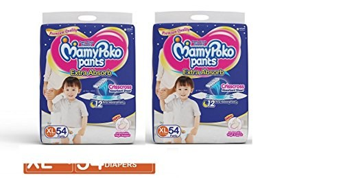 Mamy Poko Pants XL Diapers (54 Pieces) - Pack Of 2