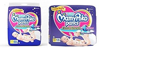 Mamy Poko Pants Baby Diaper, S 60 Pieces (Pack Of 2)