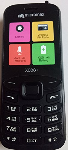 Micromax X088+ Black Mobile
