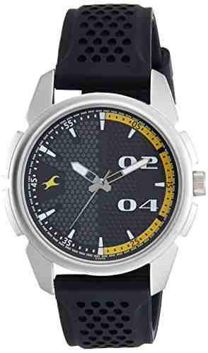 Fastrack 3124SP02 Loopholes Analog Black Dial Men's Watch (3124SP02)