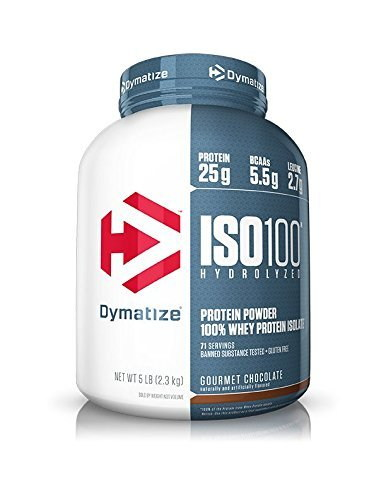 Dymatize Nutrition Iso 100 Whey Protein Isolate Powder (2.3kg, Gourmet Chocolate)