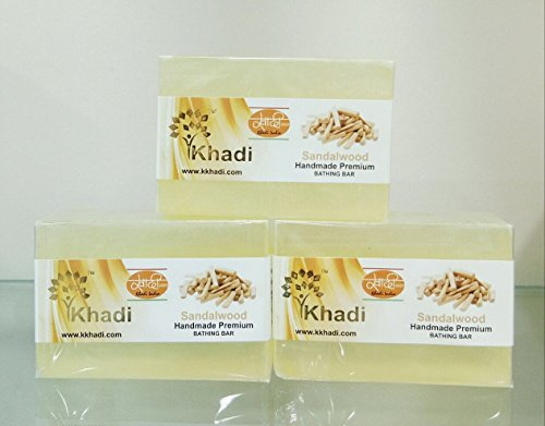 Khadi Sandlewood Premium Soap, 125 GM (Pack of 3)
