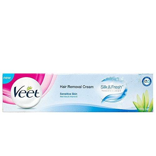 Veet Hair Removal Cream for Sensitive Skin, 100 GM (Pack of 2)