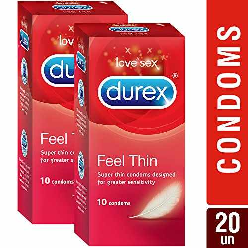 Durex Feel Thin Condom, 10 Pieces (Pack of 2)