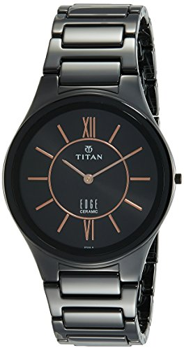 eed5831ce37 Titan Edge 1696NC01 Ceramic Black Dial Analog Men s Watch (1696NC01)