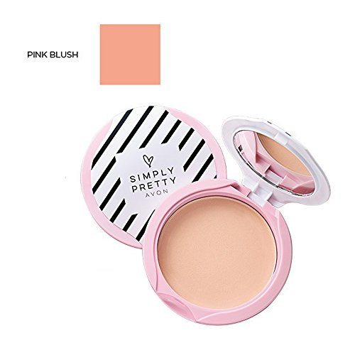 Avon Simply Pretty Shine No More Spf 14 Pressed Powder, Pink Blush