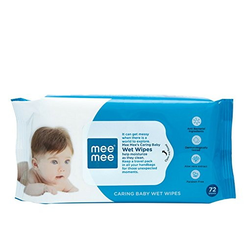 Mee Mee Wet Baby Wipes, 72 Pieces