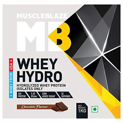 MuscleBlaze Whey Hydro (1Kg, Chocolate)