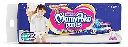 Mamy Poko Pant Extra Absorb XXL Diapers (22 Pieces)