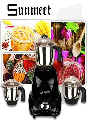 Sunmeet 1000 Watts Mixer Juicer Grinder Black, (4 Jars)