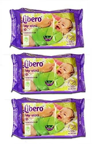 Libero Wet Baby Wipes, 80 Pieces (Pack of 3)