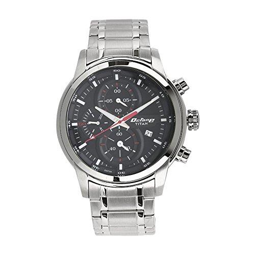 d2574e4307 Titan Octane 90086SM01 Black Dial Chronograph Men's Watch (90086SM01)