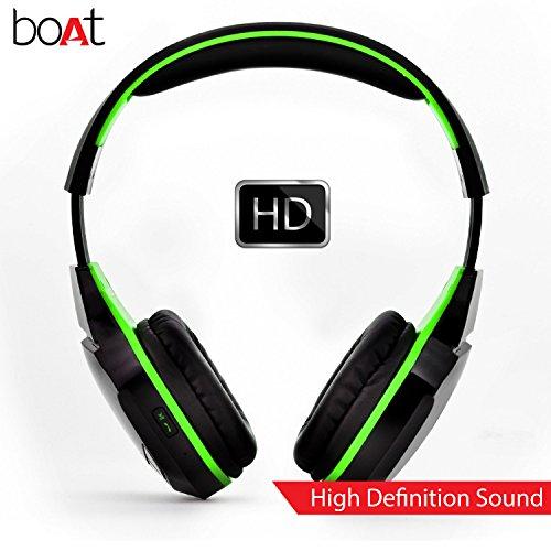 Boat Rockerz 510 Extra Bass Over the Ear Bluetooth Headphones, Viper Green