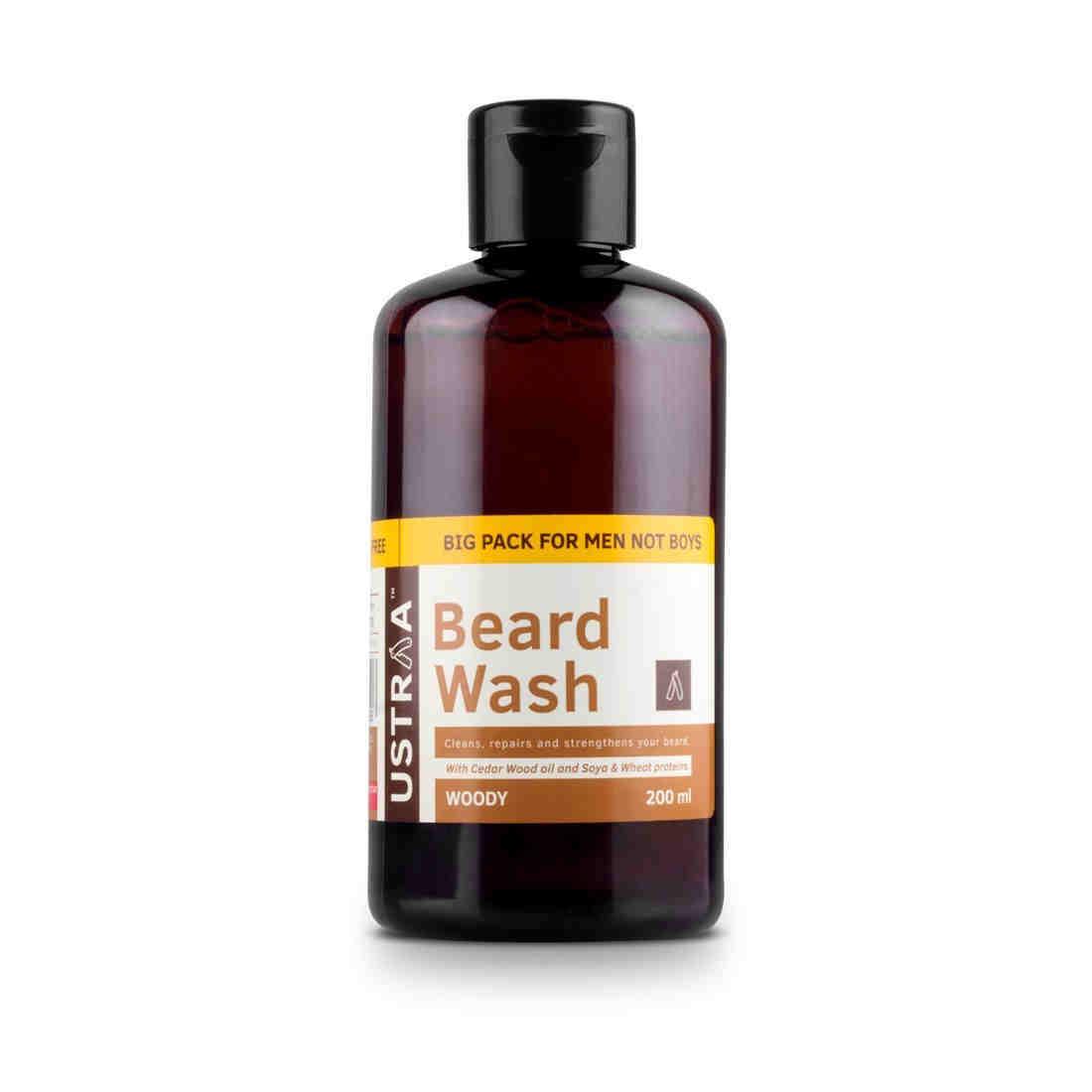 Ustraa Beard Wash For Men, 200 ML