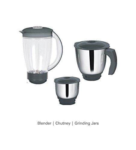 Inalsa Maxie Marvel 800 W Food Processor Grey, (3 Jars)
