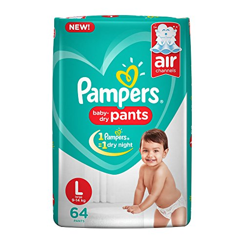 Pampers New Pants Style L Diapers (64 Pieces)