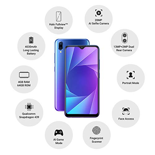 Vivo Y95 (64GB, 4GB RAM) Nebula Purple Mobile