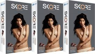 Skore Skore Chocolate Dotted Condoms (30 Condoms)