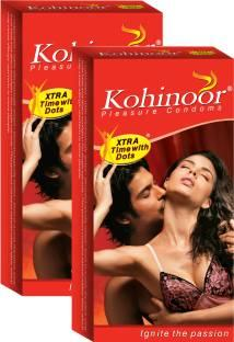 Kohinoor Extra Time Dotted Condoms (10 Condoms)
