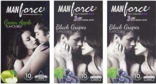 Manforce Green Apple and BlackGrape Condoms (30 Condoms)