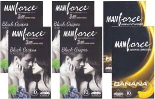 Manforce BlackGrape and Banana Condoms (60 Condoms)