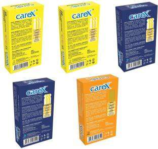 Carex Powershot Extra Time x 2 Rough & Tough x 2 and Gold Condoms (50 Condoms)