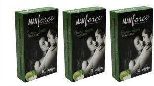Manforce Green Apple Condom (30 Condoms)