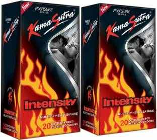 Kamasutra Intensity Pleasure Condoms (Pack of 2, 40 Condoms)