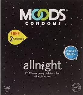 Moods All Night Condoms (100 Condoms) - Pack of 5