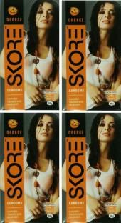 Skore Dotted and Colored Orange Condoms (40 Condoms)