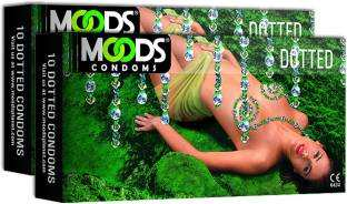 Moods All NIght Ultra Thin Dotted Condoms (60 Condoms)