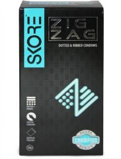 Skore Zig Zag Condoms (10 Condoms)