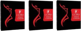 Cupid Female Vanilla Condoms - Pack of 3