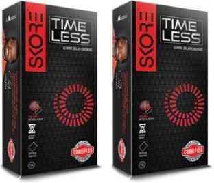 Skore Time Less Condoms (10 Condoms) - Pack of 2