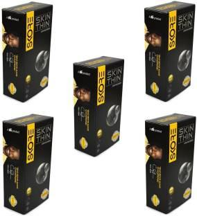 Skore Skin Thin Condoms (10 Condoms) - Pack of 5