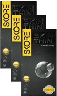 Skore Skin Thin Condoms (10 Condoms) - Pack of 3
