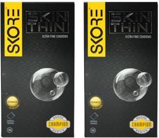 Skore Skin Thin Condoms (10 Condoms) - Pack of 2