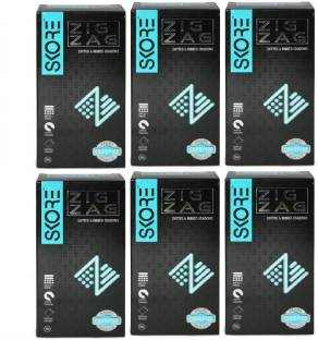 Skore Zig Zag Condoms (10 Condoms) - Pack of 6