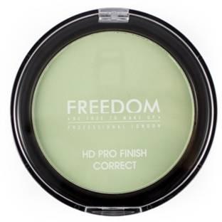 Makeup Revolution London Freedom Makeup London Hd Pro Finish Correct Compact, Mint Green, 4 Gm