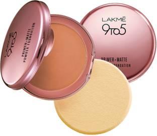 Lakme 9 To 5 Primer + Matte Powder Foundation Compact, Ivory Cream